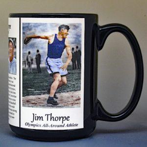 Jim Thorpe, Olympics biographical history mug.