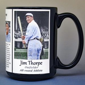 Jim Thorpe, baseball biographical history mug.