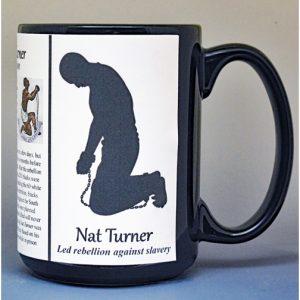 Nat Turner, abolitionist biographical history mug.