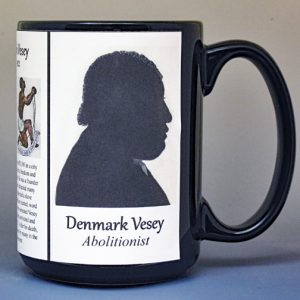 Denmark Vesey, abolitionist biographical history mug.