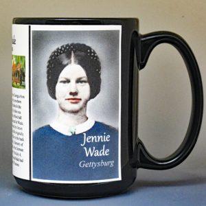 Jennie Wade, Civil War Union civilian biographical history mug.