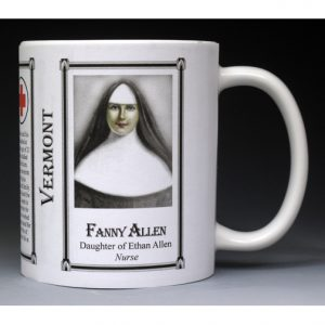 Fanny Allen Vermont biographical history mug.
