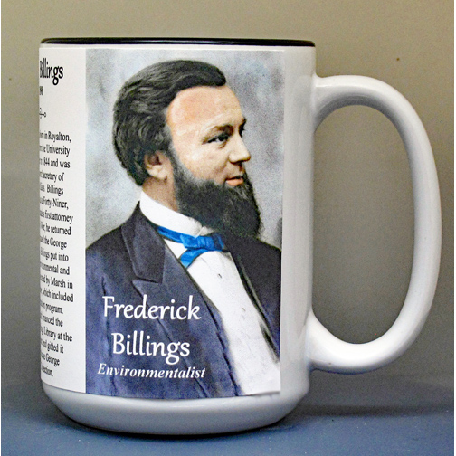 Frederick Billings, Vermont lawyer and environmentalist biographical history mug.