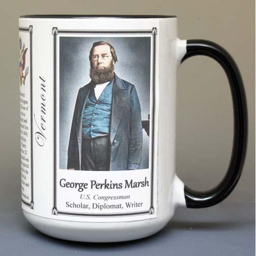 George Perkins Marsh, diplomat and environmentalist biographical history mug.