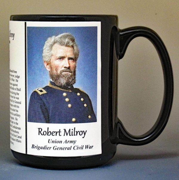 Robert Milroy, Union Army, US Civil War biographical history mug.