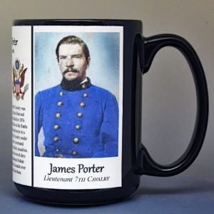 James Porter, US Cavalry biographical history mug.