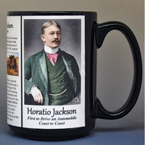Horatio Jackson, first person to drive across the U.S.A., biographical history mug.