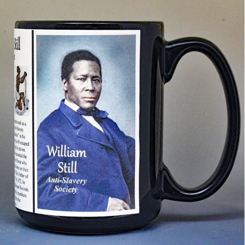 William Still, Civil War anti-slavery biographical history mug.