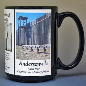 Andersonville Prison - Camp Sumter Civil War history mug.
