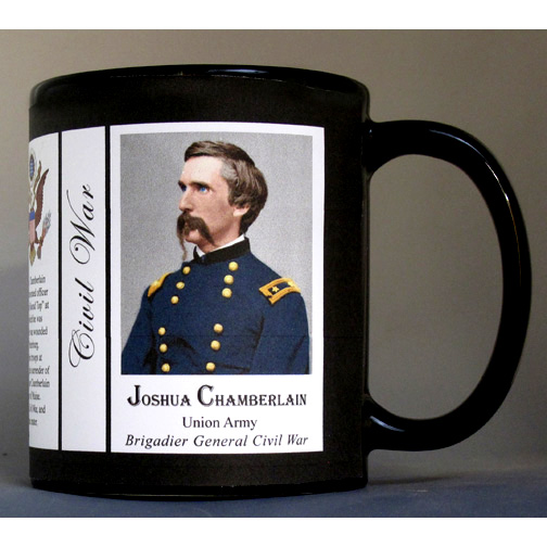 Joshua Chamberlain, Civil War Union Army history mug.