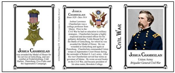Chamberlain, Joshua Tri Panel-COLOR-Civil War