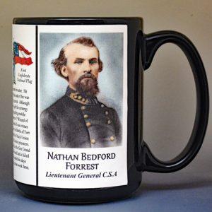 Nathan Bedford Forrest, US Civil War biographical history mug.