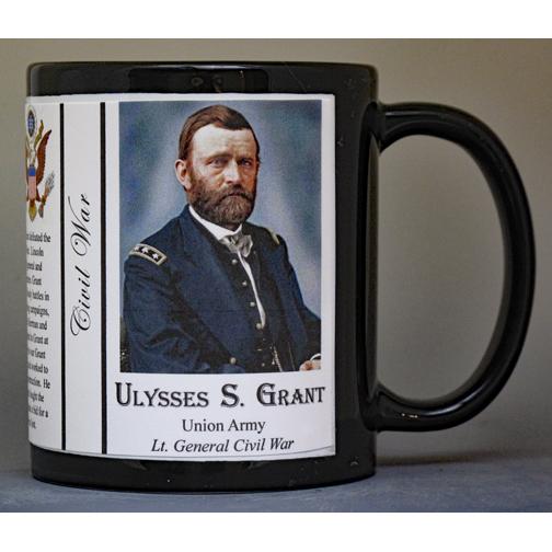 U.S. Grant, Civil War biographical history mug.