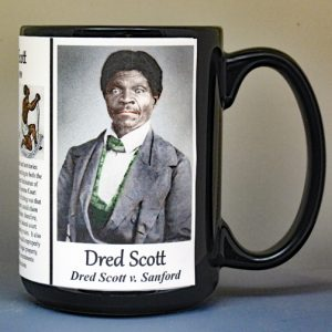 Dred Scott, African American slave who sued for his freedom in 1857 biographical history mug.