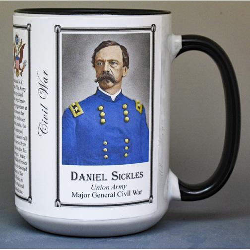 Daniel Sickles Civil War Union Army history mug.
