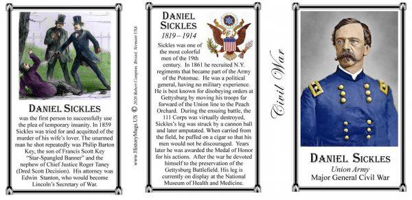 Daniel Sickles Civil War Union Army history mug tri-panel.