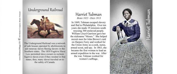 Harriet Tubman Civil War Union civilian biographical history mug tri-panel.