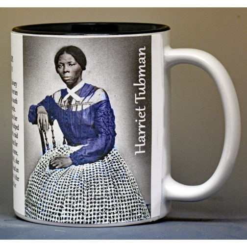 Harriet Tubman, Civil War biographical history mug.