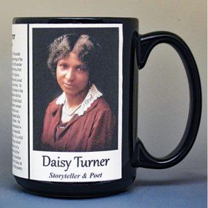 Daisy Turner, storyteller and poet biographical history mug.