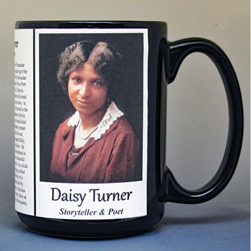 Daisy Turner biographical history mug.