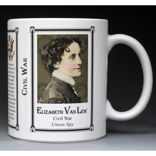 Elizabeth Van Lew Civil War Union civilian history mug.