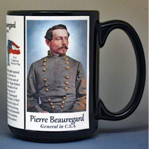 Pierre Beauregard, US Civil War biographical history mug.