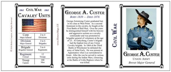 Custer, George- Tri Panel-Cavalry