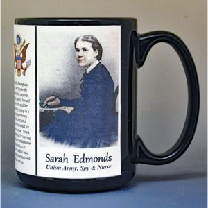 Sarah Edmonds, Union Army, US Civil War biographical history mug.