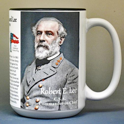 Robert E. Lee Civil War history mug.