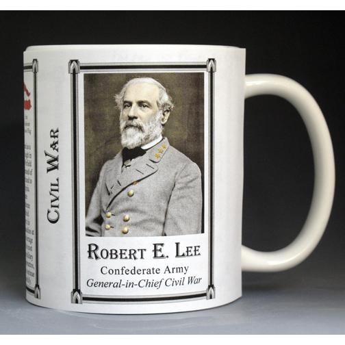 Robert E. Lee Civil War biographical history mug.