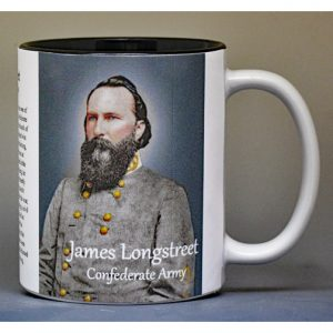 James Longstreet Civil War Confederate Army history mug.