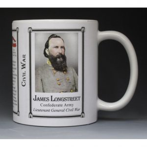 James Longstreet Civil War history mug.