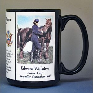 Edward Williston, Brigadier General Union Army, US Civil War biographical history mug.