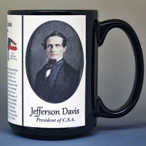 Jefferson Davis, C.S.A. President biographical history mug.