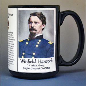 Winfield Scott Hancock, Major General Union Army, US Civil War biographical history mug.