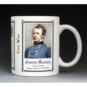 Joseph Hooker Civil War Union Army history mug.