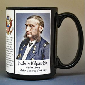 Judson Kilpatrick, Union Army, US Civil War, biographical history mug.