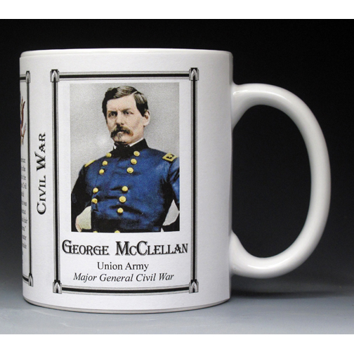 George McClellan Civil War Union Army history mug.