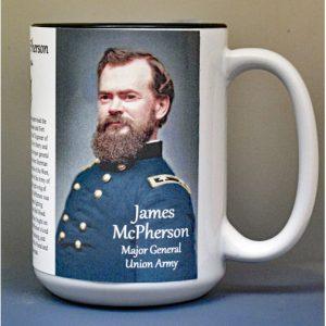 James McPherson, Union Army, US Civil War biographical history mug.