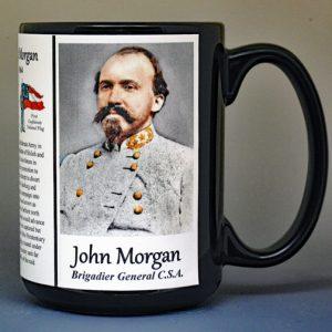John Hunt Morgan, Confederate Army, US Civil War biographical history mug.