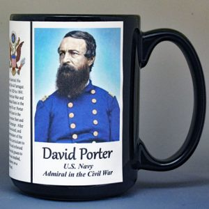 David Dixon Porter, US Navy, US Civil War biographical history mug.