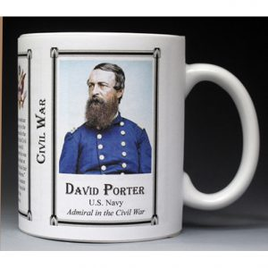David Dixon Porter Civil War Union Army history mug.