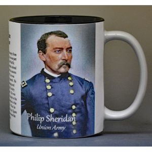 Philip Sheridan Civil War Union Army biographical history mug.