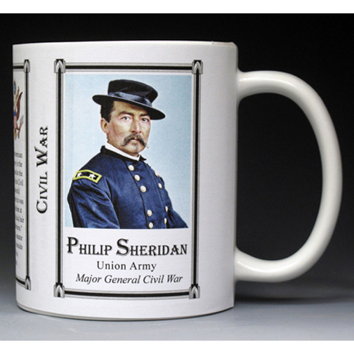 Philip Sheridan Civil War Union Army history mug.