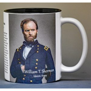 William Tecumseh Sherman Civil War Union Army biographical history mug.