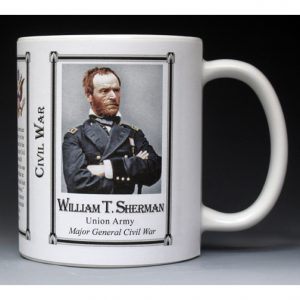 William Tecumseh Sherman Civil War Union Army history mug.