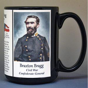 Braxton Bragg, US Civil War biographical history mug.
