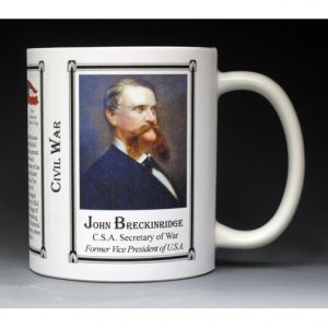 John C. Breckinridge Civil War history mug.