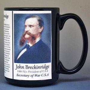 John Breckinridge, C.S.A. Secretary of War biographical history mug.