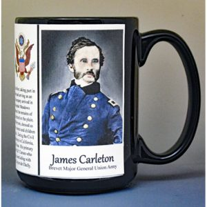 James Carleton, Union Army, US Civil War biographical history mug.